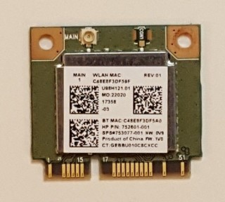 Card Wifi Bluetooth 4.0 Realtek RTL8723BE Mini PCIE For HP