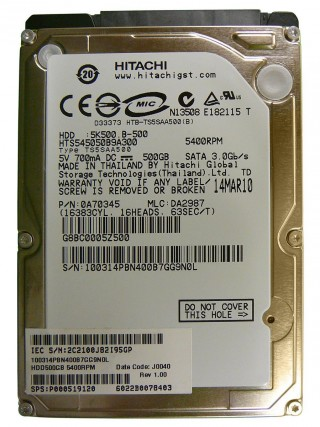 Ổ cứng 500GB Laptop 7200RPM